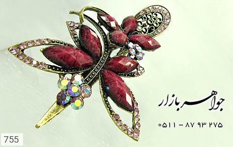 گل سر درشت گل بنفش کره ای زنانه - تصویر 4