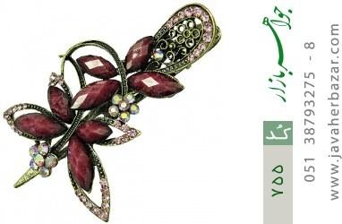گل سر درشت گل بنفش کره ای زنانه - کد 755