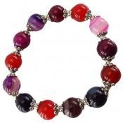 دستبند عقیق سلیمانی چند رنگ زنانه