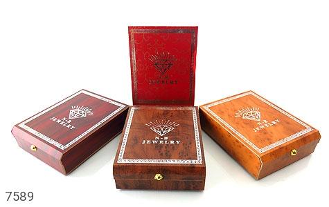 جعبه جواهر چوبی نیم ستی - تصویر 2