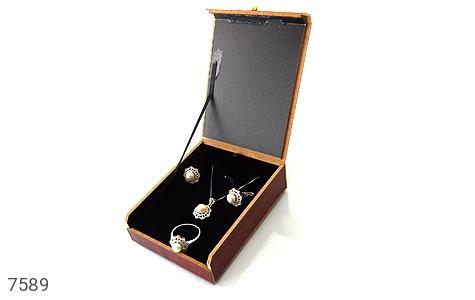جعبه جواهر چوبی نیم ستی - عکس 3
