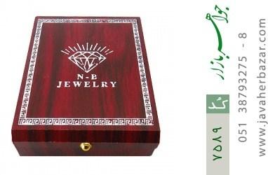 جعبه جواهر چوبی نیم ستی - کد 7589