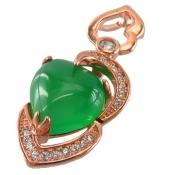 مدال نقره فانتزی طرح قلب زنانه