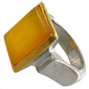 انگشتر عقیق زرد شرف الشمس هنر شرفیان مردانه