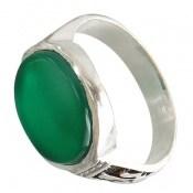 انگشتر عقیق سبز خوش رنگ رکاب طرح صفوی