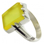 انگشتر عقیق زرد شرف الشمس کلاسیک