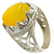 انگشتر عقیق زرد شرف الشمس مردانه