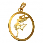 مدال نقره روکش آب رودیوم طرح رقصنده زنانه