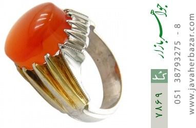 انگشتر عقیق مرغوب یمنی شرف الشمس طرح فاخر مردانه