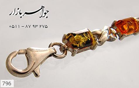 دستبند کهربا لهستان طرح ضربدری - تصویر 4