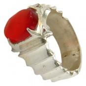 انگشتر عقیق یمن قرمز خوش رنگ مرغوب مردانه