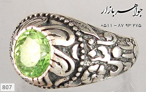 انگشتر زبرجد رکاب قدیمی مردانه - تصویر 2