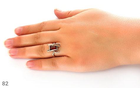 انگشتر کهربا طرح پیچ زنانه - عکس 5