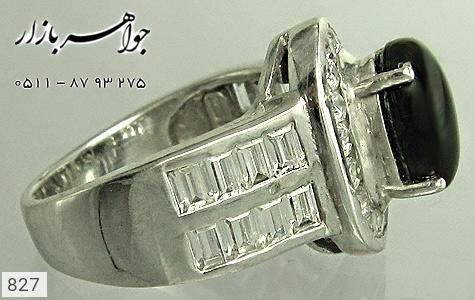 انگشتر نقره دور برلیان اتمی زنانه - تصویر 2