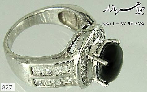 انگشتر نقره دور برلیان اتمی زنانه - تصویر 4