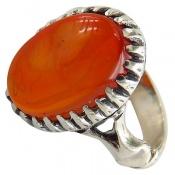 انگشتر عقیق پرتقالی خوش رنگ شرف الشمس مردانه