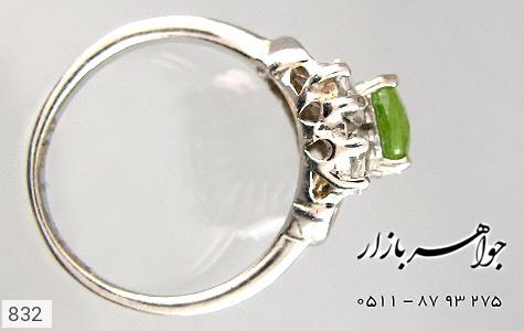 انگشتر زبرجد طرح شکوفه زنانه - عکس 3