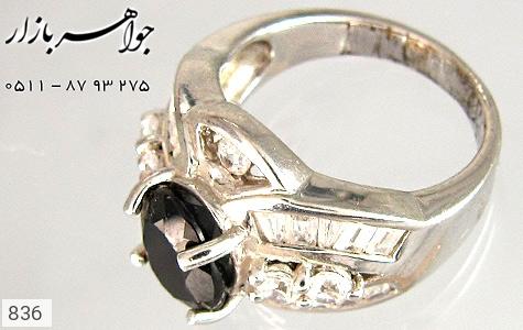 انگشتر نقره آب رودیوم سفید زنانه - عکس 1