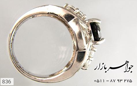 انگشتر نقره آب رودیوم سفید زنانه - تصویر 4