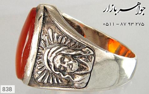 انگشتر عقیق تمثال امام حسین (ع) - عکس 3