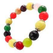 دستبند جید رنگین کمانی درخشان زنانه