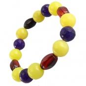 دستبند عقیق و جید رنگین کمانی درخشان زنانه