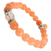دستبند جید خوش رنگ آویز برگ زنانه