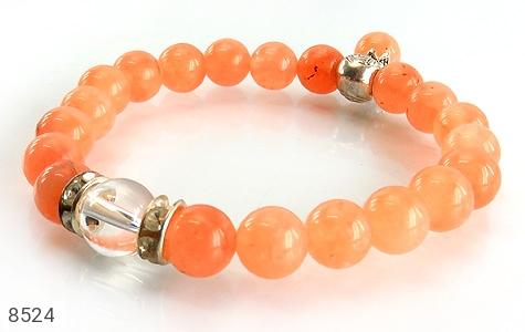 دستبند جید خوش رنگ آویز برگ زنانه - عکس 1