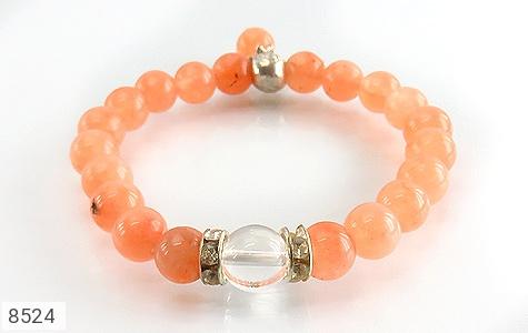 دستبند جید خوش رنگ آویز برگ زنانه - تصویر 2