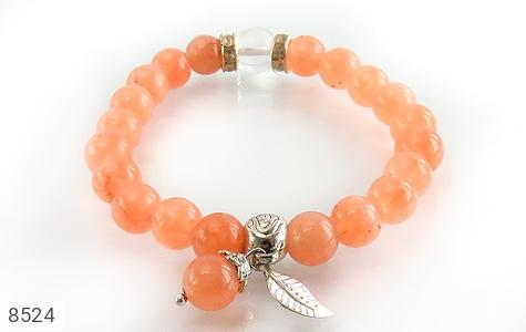 دستبند جید خوش رنگ آویز برگ زنانه - عکس 3