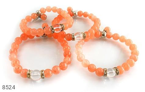دستبند جید خوش رنگ آویز برگ زنانه - تصویر 4