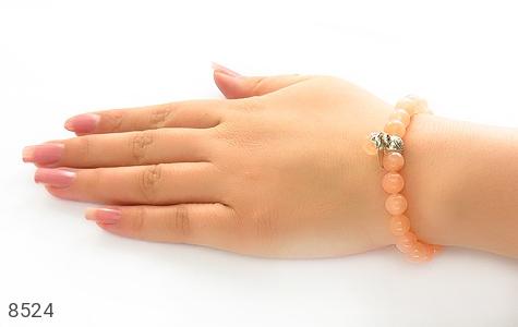 دستبند جید خوش رنگ آویز برگ زنانه - تصویر 6