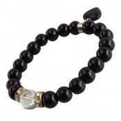 دستبند جید سیاه آویز قلب زنانه کد 8536