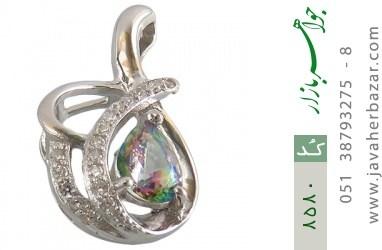 مدال توپاز هفت رنگ اشکی زنانه - کد 8580