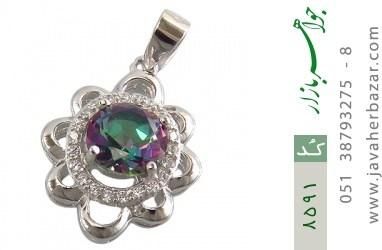 مدال توپاز هفت رنگ طرح شمس زنانه - کد 8591