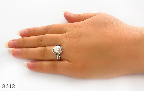 انگشتر مروارید طرح ساغر زنانه - عکس 7