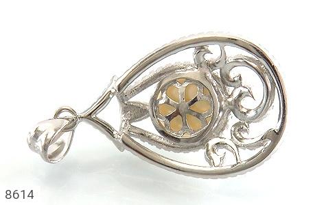 مدال مروارید درشت طرح مهگل زنانه - تصویر 2