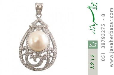 مدال مروارید درشت طرح مهگل زنانه - کد 8614