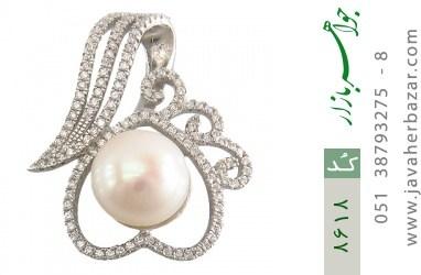 مدال مروارید درشت طرح دلبر زنانه - کد 8618