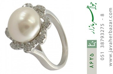 انگشتر مروارید طرح پرنسس زنانه - کد 8625