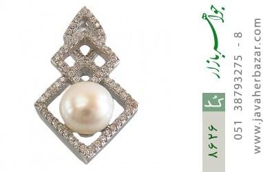 مدال مروارید درشت طرح کلاسیک زنانه - کد 8626
