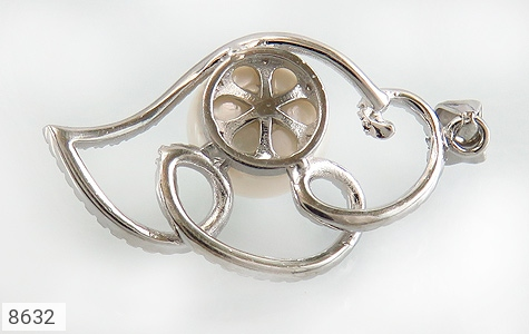 مدال مروارید درشت طرح سوگل زنانه - تصویر 2