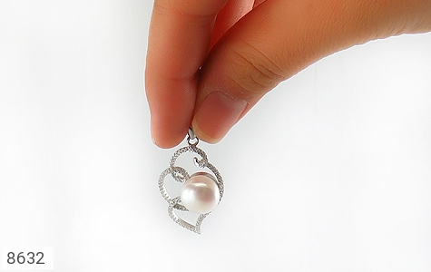 مدال مروارید درشت طرح سوگل زنانه - تصویر 4