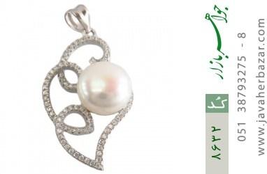مدال مروارید درشت طرح سوگل زنانه - کد 8632