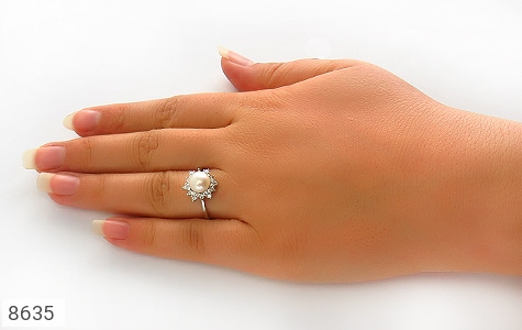 انگشتر مروارید طرح ستاره زنانه - تصویر 6