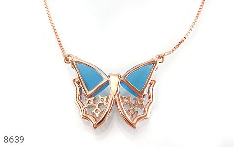 سینه ریز چشم گربه طرح پروانه درخشان زنانه - تصویر 2