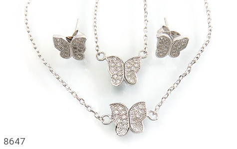 سرویس نقره طرح پروانه زنانه - عکس 1