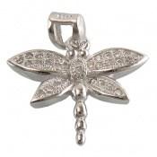 مدال نقره طرح سنجاقک زنانه