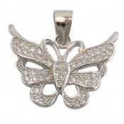 مدال نقره زینتی طرح پروانه زنانه
