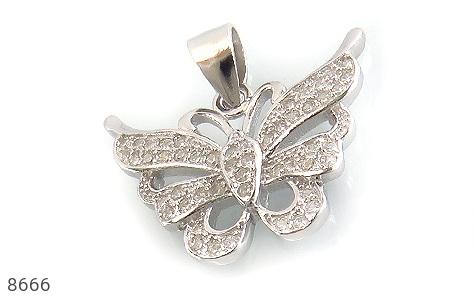 مدال نقره زینتی طرح پروانه زنانه - عکس 1